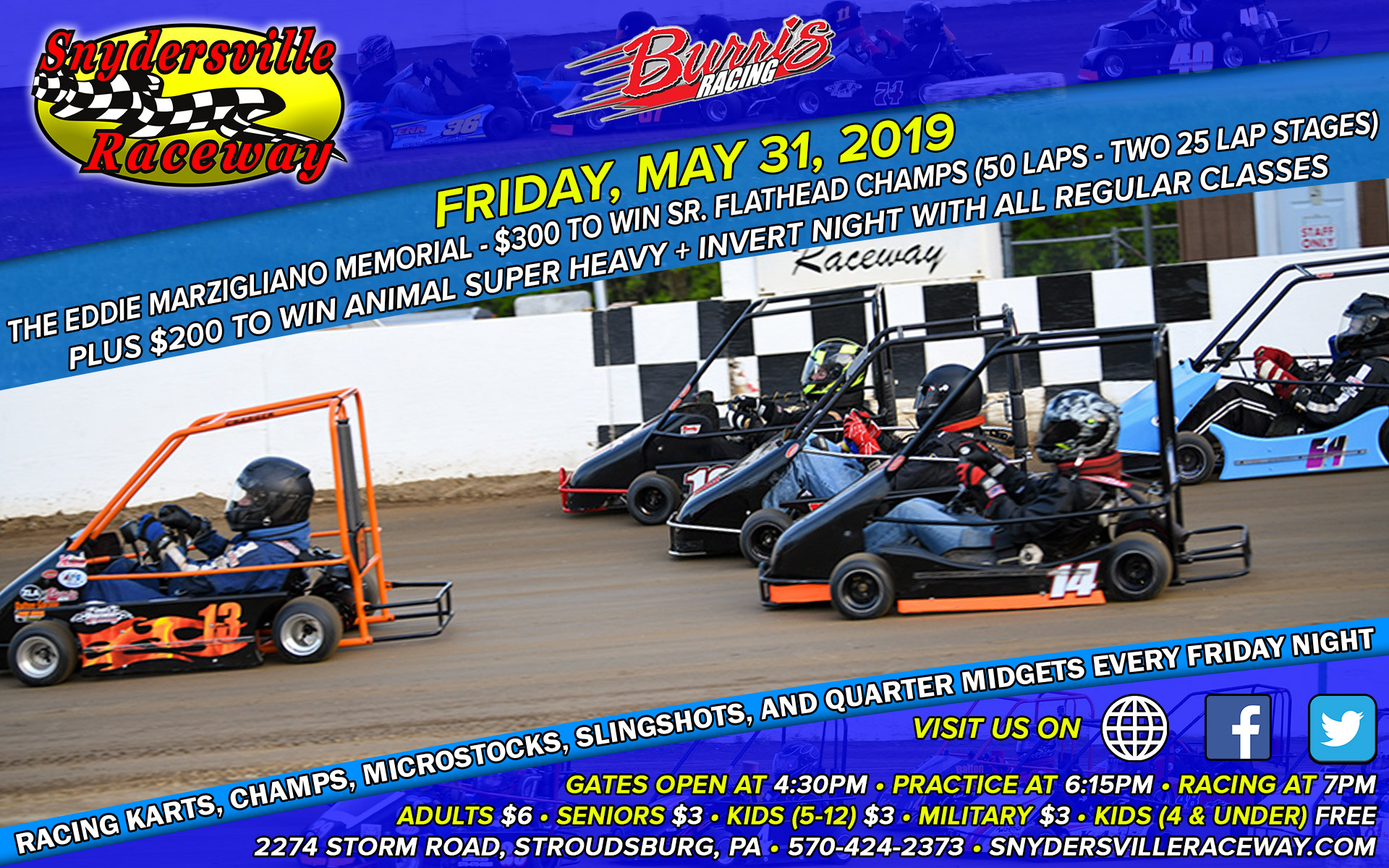 Go Kart Racing Pa >> Snydersville Raceway